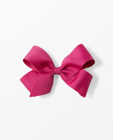 Hanna Andersson Ribbon Bow Clip in Mulberry - main