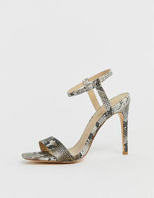 Truffle Collection barely there heeled sandals in