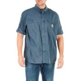 CARHARTT Mens Relaxed Fit Tab Sleeve Button Down S