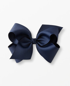 Hanna Andersson Really Big Ribbon Bow Clip in Navy