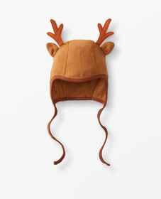 Hanna Andersson Reindeer Cap In Organic Cotton in