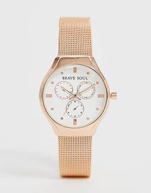 Brave Soul ladies chronograph mesh watch