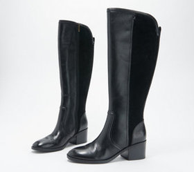 Marc Fisher Wide Calf Leather Tall Shaft Boots - R