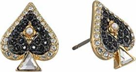 Swarovski Tarot Magic Spade Stud Pierced Earrings