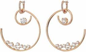 Swarovski North Double Hoop Pierced Earrings