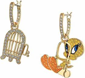 Swarovski Looney Tunes Tweety Mini Hoop Pierced Ea