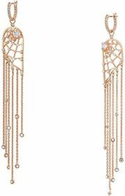 Swarovski Precisely Chandelier Fringe Pierced Earr