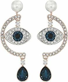 Swarovski Duo Evil Eye Pierced Earrings
