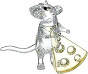 Swarovski Mouse with Cheese Figurine