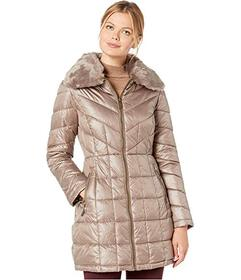 Kenneth Cole New York Zip Front Quilted Puffer w\u