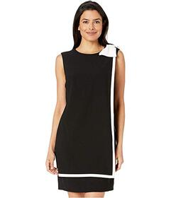 Tahari by ASL Shift Dress w\u002F Bow at Shoulder