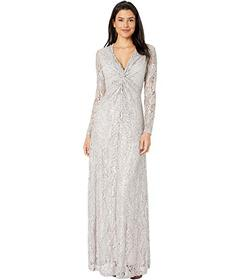 Tahari by ASL Twist Front Gown