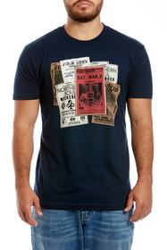 Ben Sherman Flyer Art Regular Fit Cotton Tee