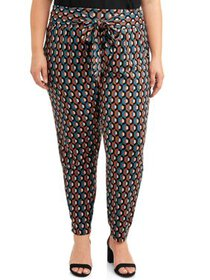 Goddess Women's Plus Size Printed Soft Pant with S