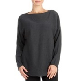 T TAHARI Horizontal Ribbed Pull Over With Dolman S
