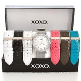XOXO 7pc Silver Snake Watch Set - Women's