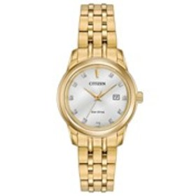 CITIZEN Citizen Eco-Drive Womens Diamond Silver Di