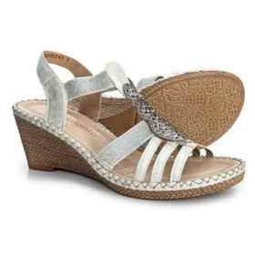 Remonte Ursula 47 Wedge Sandals (For Women) in Ice