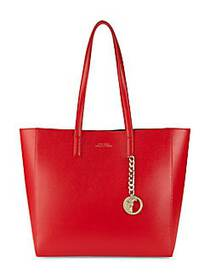 Versace Collection Logo Leather Tote RED