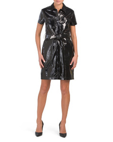 J BRAND Lucille Patent Leather Dress