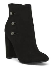 NINA Button Ankle Booties