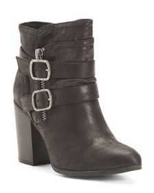 CARLOS BY CARLOS SANTANA Stacked Heel Double Buckl