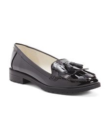 ANNE KLEIN Patent Loafers With Tassel