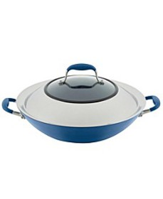 """Advanced Home Hard-Anodized 14"""" Nonstick Wok with"""