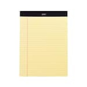 Staples Notepads, 8.5 x 11.75, Wide Ruled, Yellow,