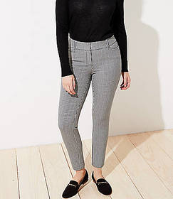 Checked Skinny Ankle Pants in Curvy Fit