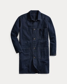 Ralph Lauren Indigo Cotton-Linen Shop Coat