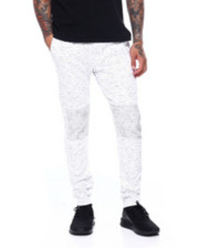 Buyers Picks printed space dye moto twill jogger