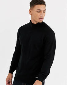 Threadbare roll neck in black