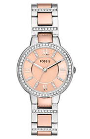 Fossil 'Virginia' Crystal Bezel Bracelet Watch, 30