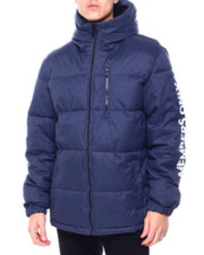 Members Only quilted hooded puffer jacket w sleeve