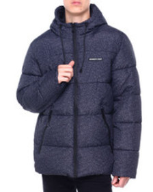 Members Only textured puffer hooded jacket