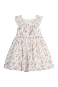 Laura Ashley Floral Clip Dot Ruffle Dress (Toddler