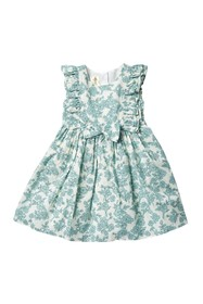 Laura Ashley Ruffle Sleeve Floral Dress (Toddler &