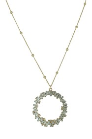 Olivia Welles Serenity Crystal Pendant Necklace