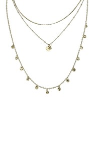 Olivia Welles Gold Plated Layered Pendant Necklace