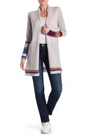 In Cashmere Mixed Stripe Cashmere Cardigan
