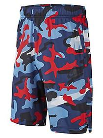 Nike Boy's Dri-FIT Mesh Camouflage Shorts NAVY RED