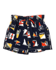 Nautica printed swim trunks w/ drawcords (2t-4t)