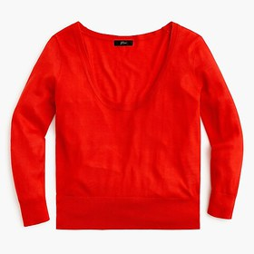 J. Crew Scoopneck silk TENCEL™ sweater