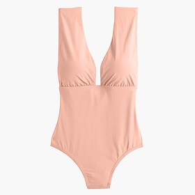 J. Crew Plunge V-neck one-piece swimsuit
