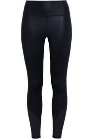 ADIDAS Cropped perforated stretch leggings