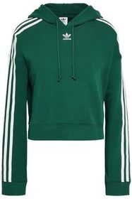 ADIDAS ORIGINALS Grosgrain-trimmed French cotton-t