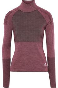 ADIDAS Paneled ribbed-knit top