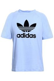 ADIDAS ORIGINALS Flocked cotton-jersey T-shirt