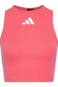 ADIDAS Cropped cutout ribbed cotton-blend top